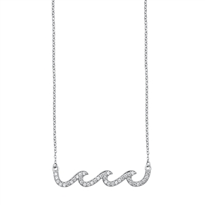 Silver Necklace - Waves
