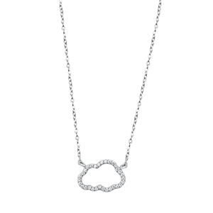 Silver Necklace - Cloud