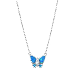 Silver Necklace - Butterfly
