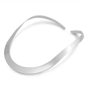 Silver Choker Necklace - Flat