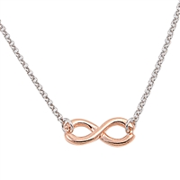 Silver Italian Necklace - Infinity
