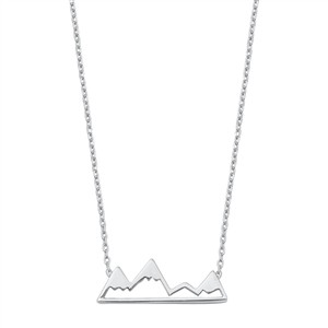 Silver Necklace - Mountains