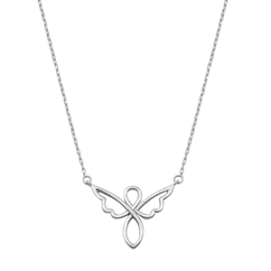 Silver Necklace - Angel
