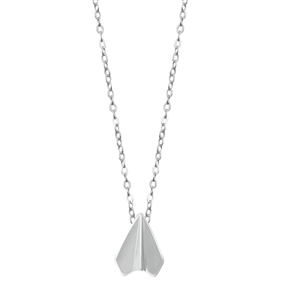 Silver Necklace - Paper Airplane