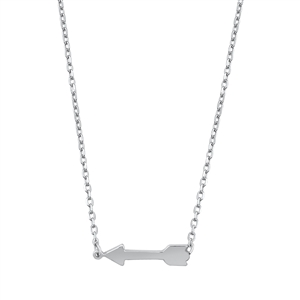 Silver Necklace - Arrow
