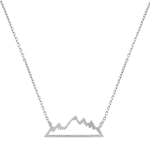 Silver Necklace - Mountain