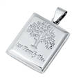 Silver Pendant - My Family Tree