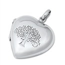 Silver Pendant - Tree of Life Heart