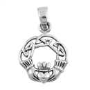 Silver Pendant - Celtic Claddagh