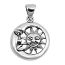 Silver Pendant - Moon and Sun - $3.53