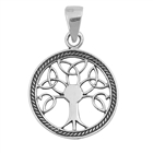Silver Pendant -Tree of Life