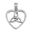 Silver Pendant - Celtic Heart