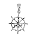 Silver Pendant - Anchor Wheel