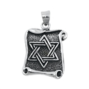 Silver Pendant W/ Stone - Star of David