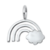 Silver Pendant - Cloud and Rainbow