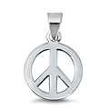 Silver Pendant - Peace Sign