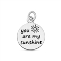 Silver Pendant - You Are My Sunshine