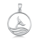 Silver Pendant - Whale Tail