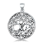 Silver Pendant - Tree of Life w/ Roots