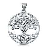 Silver Pendant - Celtic Tree of Life