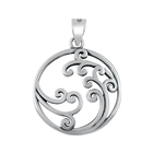Silver Pendant - Circle of Waves