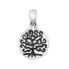 Silver Pendant - Tree w/ Roots