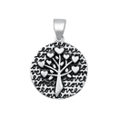 Silver Pendant - Family Tree