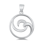 Silver Pendant - Spiral Wave