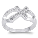 Silver CZ Ring - Cross - $7.68