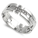 Silver CZ Ring - Cross - $9.75