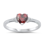 Silver CZ Ring - Heart -  $3.29
