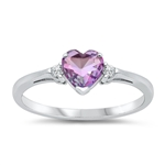 Silver CZ Ring - Heart - $4.46