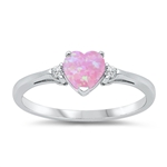 Silver CZ Ring - Heart -  $4.64