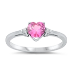 Silver CZ Ring - Heart  -  $3.59