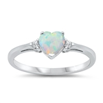 Silver CZ Ring - Heart - $4.59
