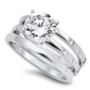 Silver CZ Ring   -  $17.21