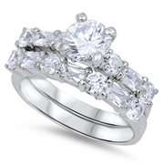 Silver CZ Ring  -  $13.95