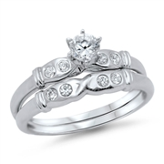 Silver CZ Ring  - $9.10