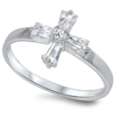 Silver CZ Ring - Cross - $4.76