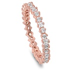 Silver CZ Ring - Rose Gold Plated - $5.84