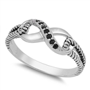 Silver CZ Ring - Infinity Knot - $5.58