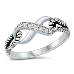 Silver CZ Ring - Infinity Knot - $5.07