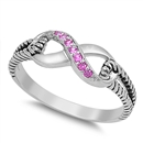 Silver CZ Ring - Infinity Knot - $6.14