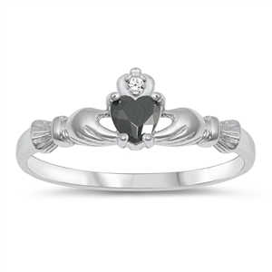 Silver CZ Ring - Claddagh Ring - $2.99