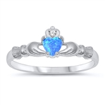Silver CZ Ring - Claddagh Ring - $4.24
