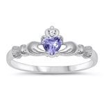 Silver CZ Ring - Claddagh Ring - $3.62