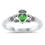 Silver CZ Ring - Claddagh Ring - $3.34