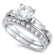 Silver CZ Ring - $10.95