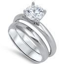 Silver Wedding Ring Sets - $9.98