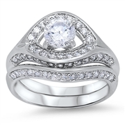 Silver CZ Ring 8- $14.50